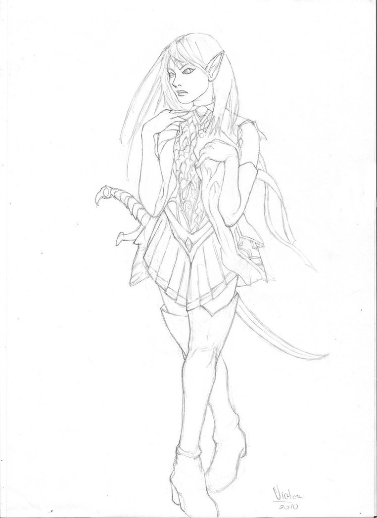 762x1048 Elf Girl By Victoraa95