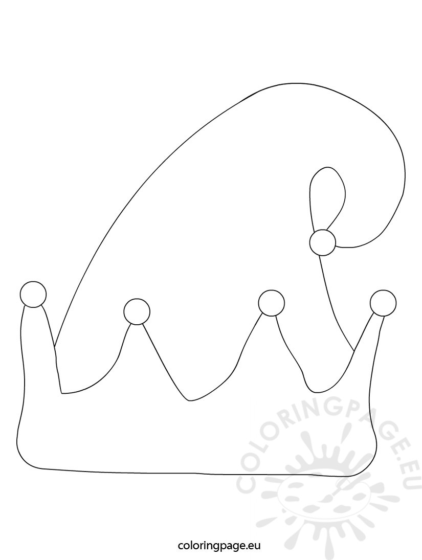 825x1095 Elf Hat Coloring Sheet