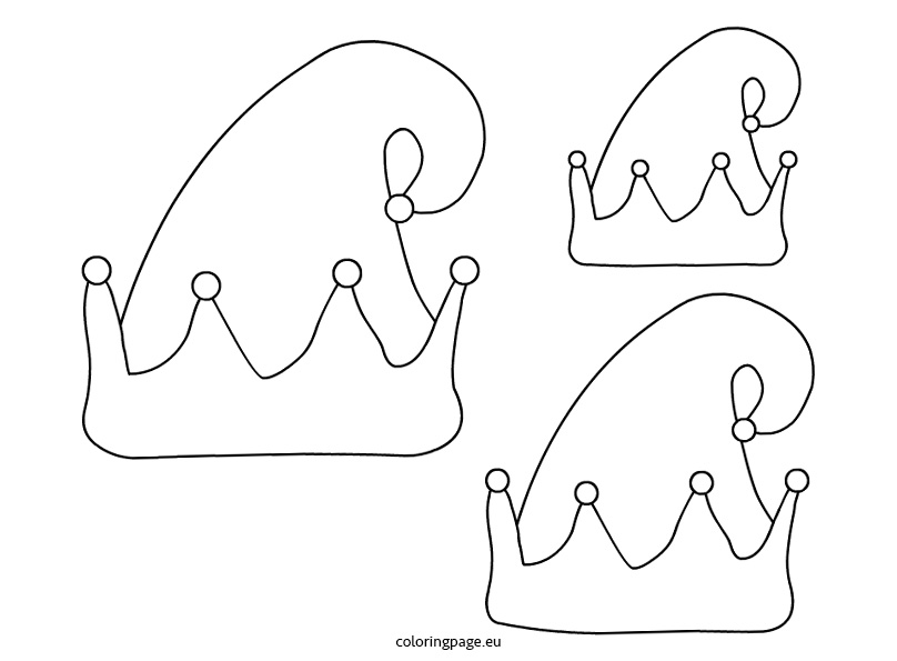 808x595 Elf Hat Coloring Pages