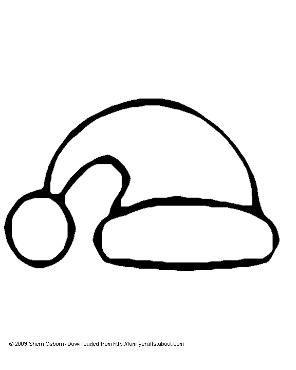 576x720 Santa Hat Coloring Pages Free