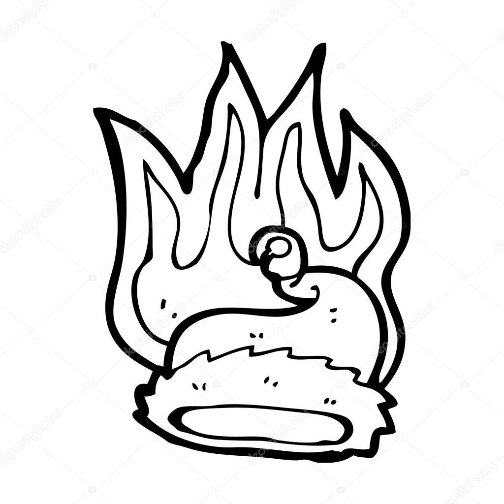1024x1024 Burning Christmas Elf Hat Stock Vector Lineartestpilot