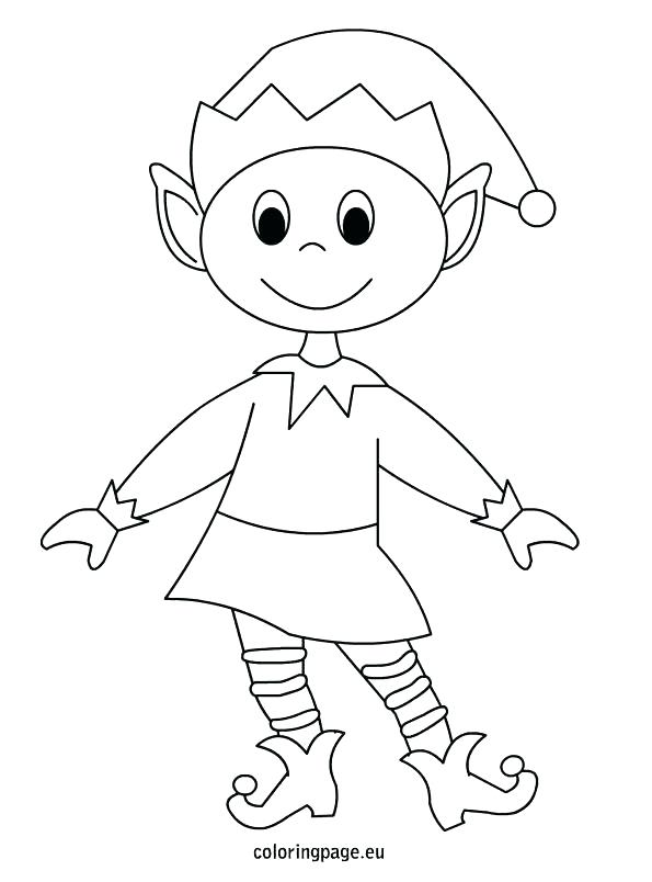 595x804 Girl Elf Coloring Page
