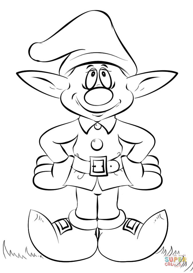 674x952 Christmas Elf Coloring Page Free Printable Coloring Pages