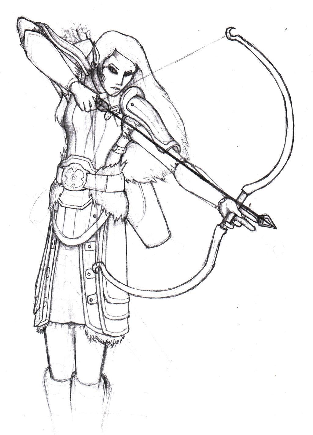 1024x1421 Dark Elf Sniper By Warlemur