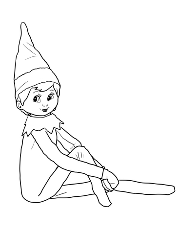 367x480 Elf On The Shelf Coloring Page Free Printable Coloring Pages