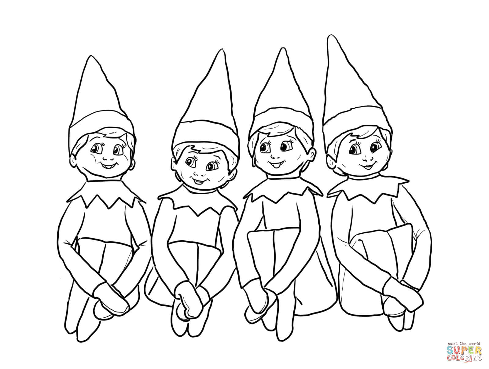 1600x1208 Elves On The Shelf Coloring Page Free Printable Pages