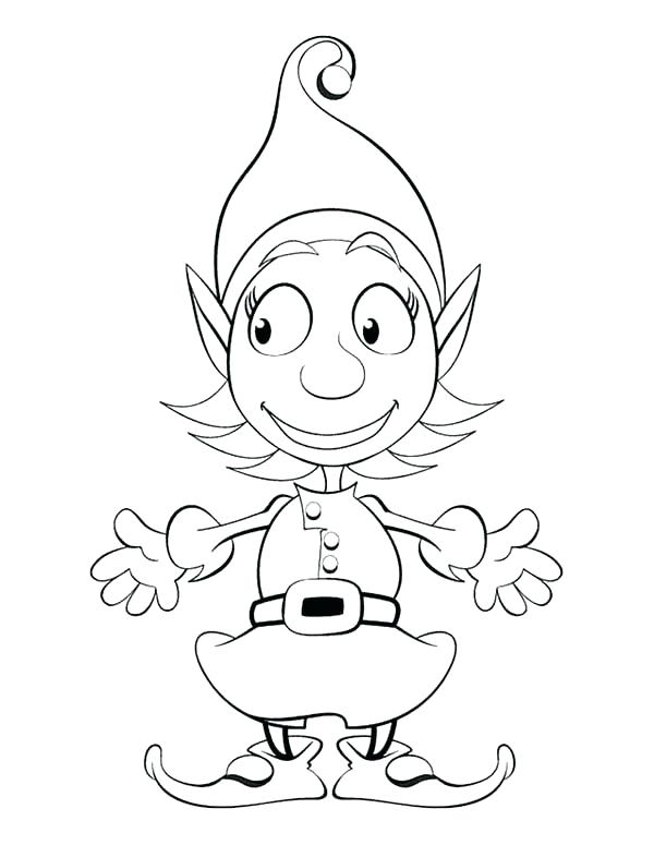 600x775 Here Are Elf Coloring Pages Pictures Elves Colouring Page Elf