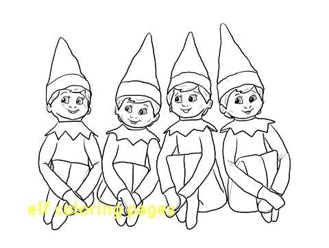480x362 Elf Coloring Page