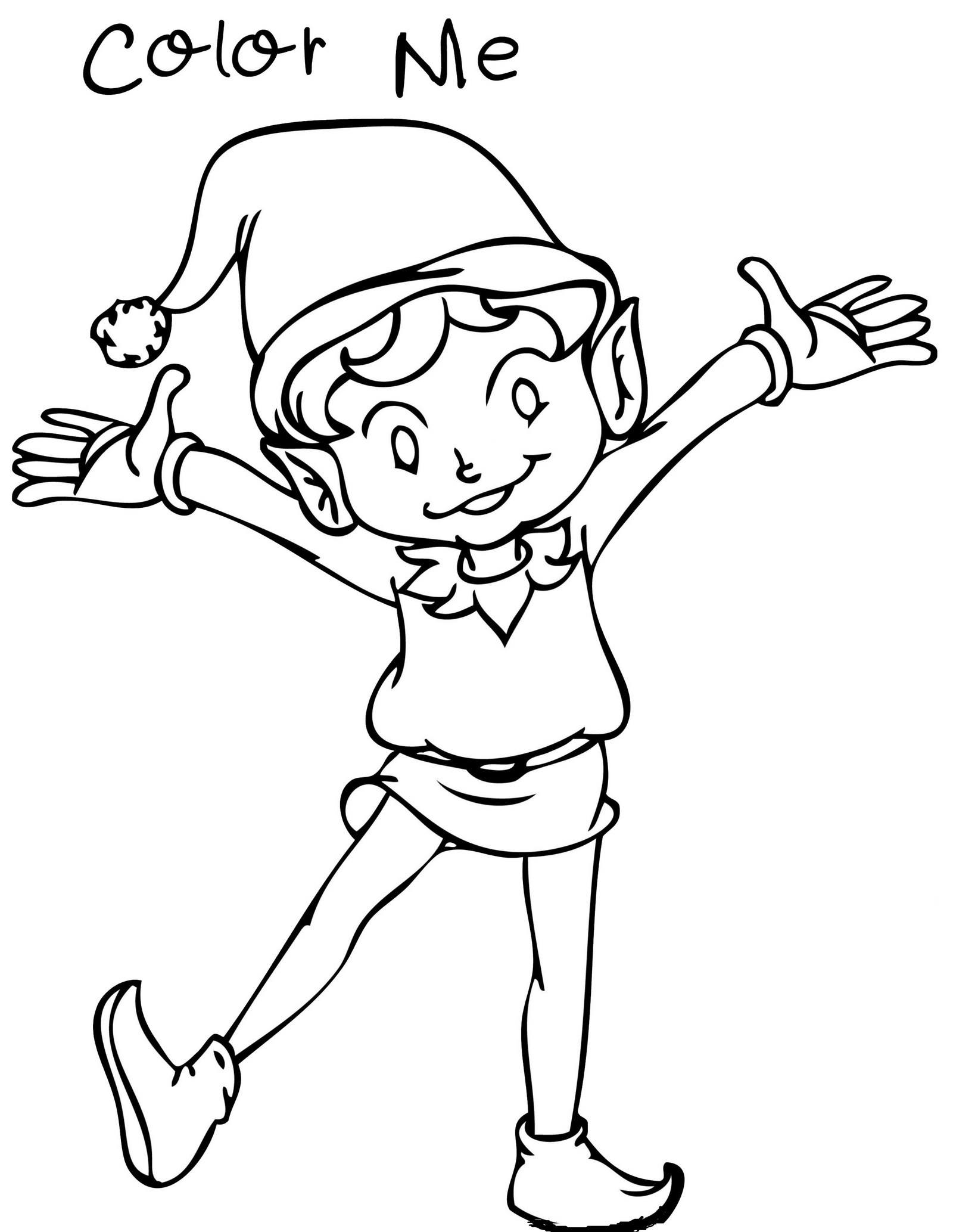 1600x2067 Elf On The Shelf Coloring Pages For Your Little Angles