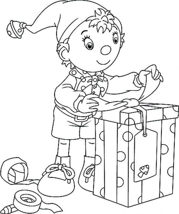 618x740 Vector Of A Cartoon Elf Carrying Lumber And Hammer Outlined