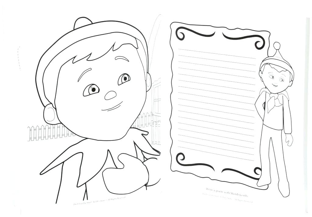 1024x712 Coloring Pages Elf On The Shelf Elf On The Shelf Pictures To Color