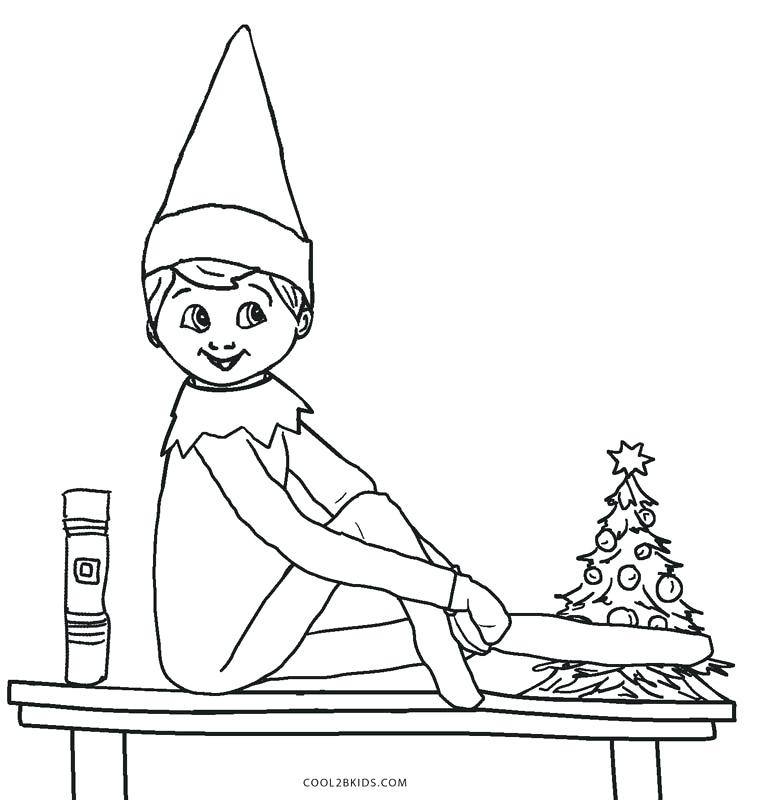 777x800 Elf On The Shelf Color Pages