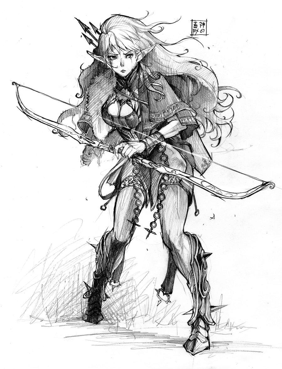 900x1175 Elf Archer Being An Elf Archer By