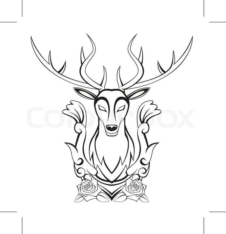 773x800 Deer symbol Stock Vector Colourbox
