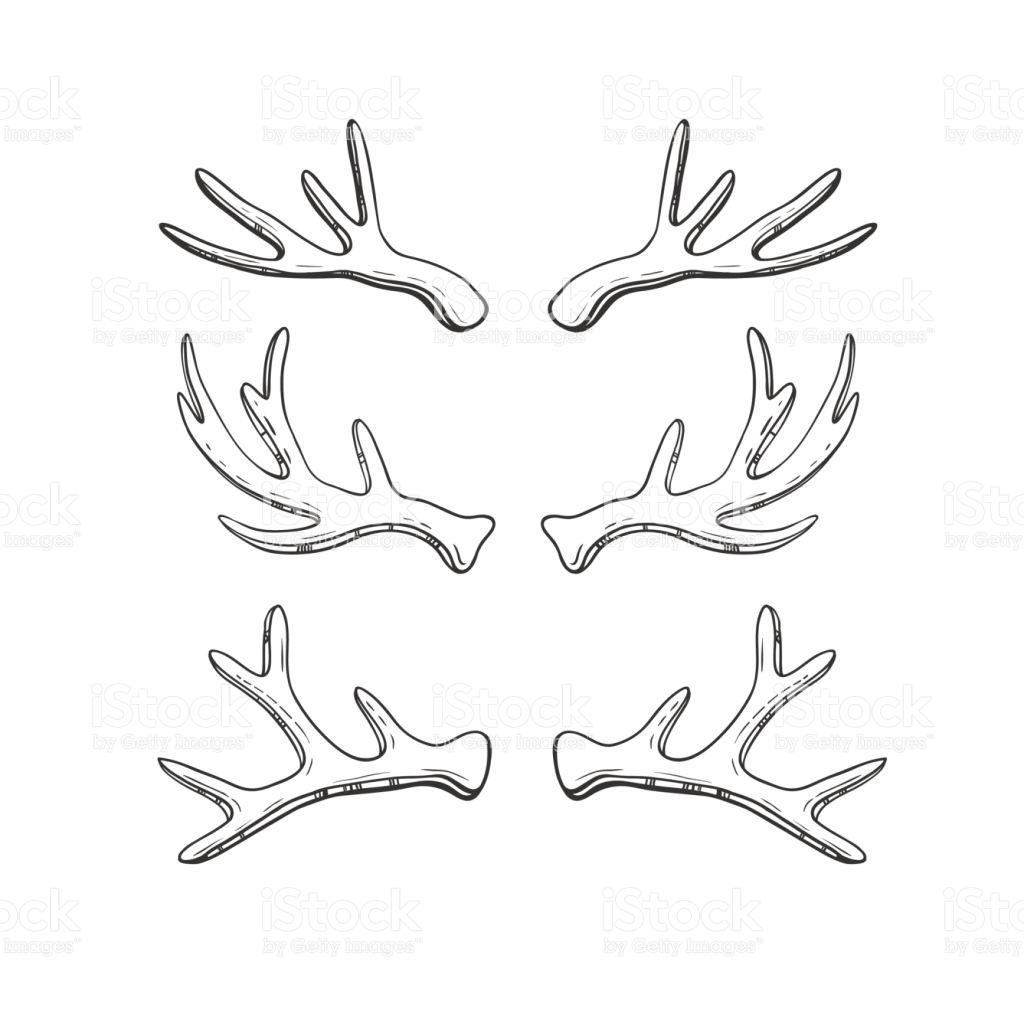 1024x1024 Drawn horns vector