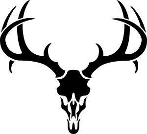 300x274 deer%20skull%20drawing deer pics Pinterest Antlers, Cricut