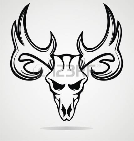 428x450 Elk Skull Clipart Collection