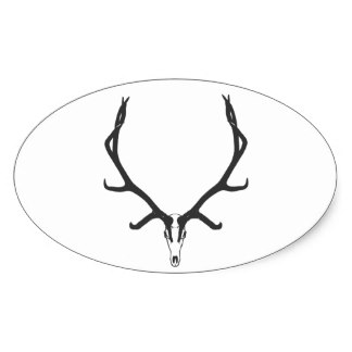 324x324 Whitetail Deer Skull Stickers Zazzle