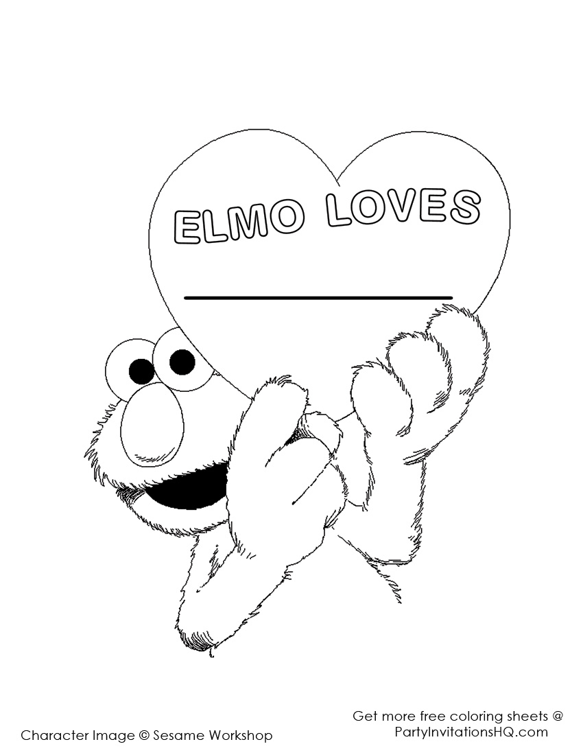 Baby Elmo Color Page Coloring Pages