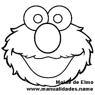 Good Elmo Cut Out Template Images Elmo Head Pattern Mouse Bow