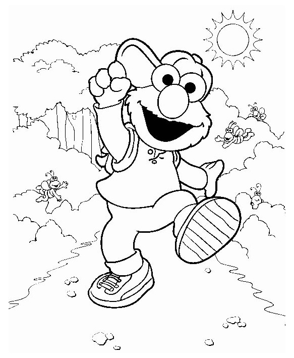 583x709 Free Elmo Coloring Pages Printable Worksheets 20