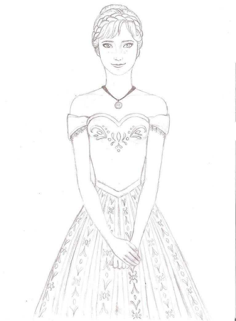 767x1042 Frozen Anna By Dreamynaria