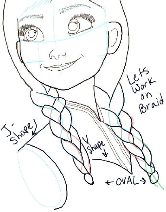 576x737 How To Draw Princess Anna From Frozen Step By Step Tutorial