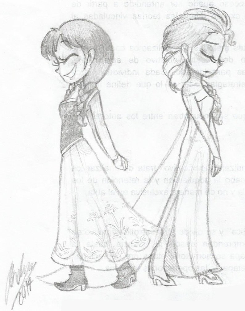 794x1007 Anna And Elsa By Masterofdoodlez