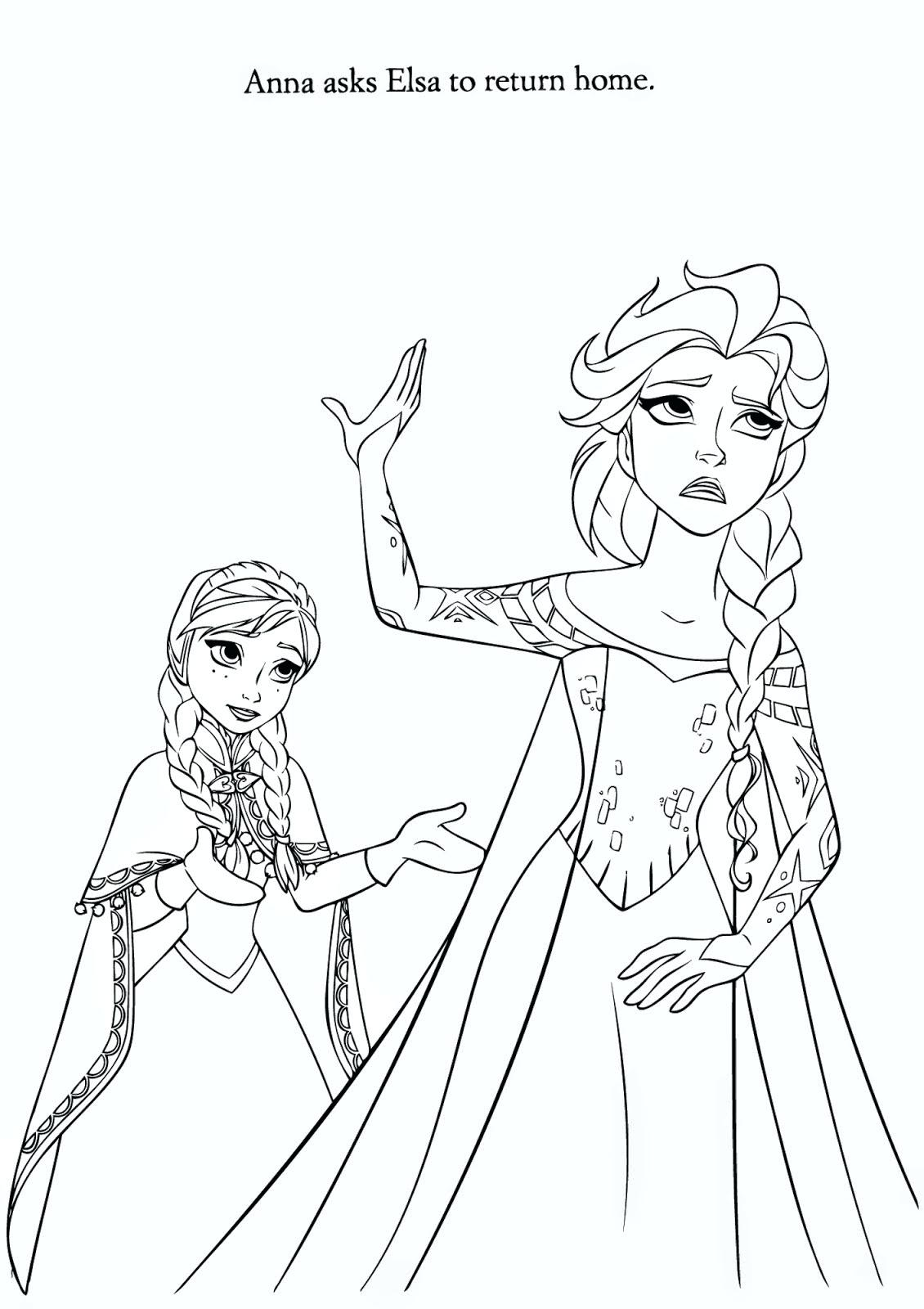 Elsa Castle Drawing