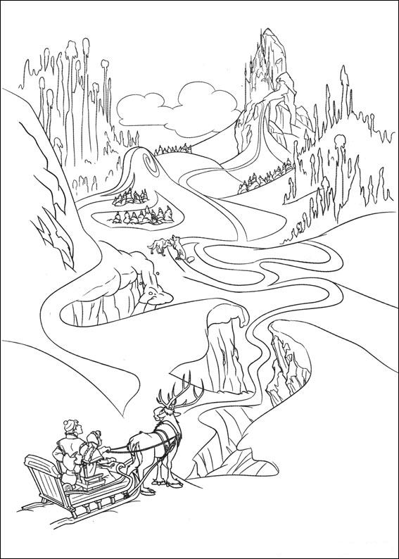 567x794 Coloring Page Frozen A Beautifull Winter Scene Pages