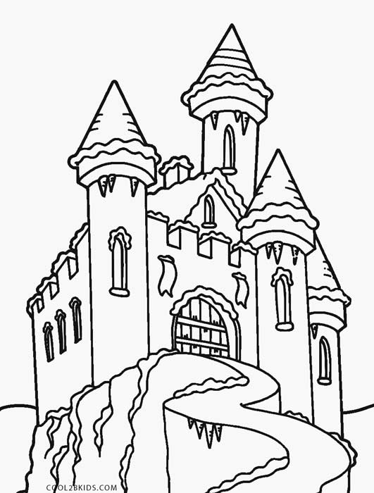elsa and castle coloring pages - photo#19