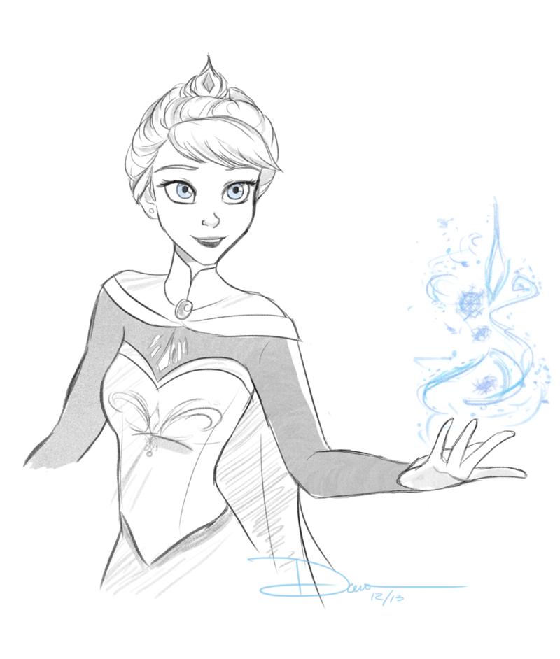 800x942 Elsa Sketches By Riku Gurl