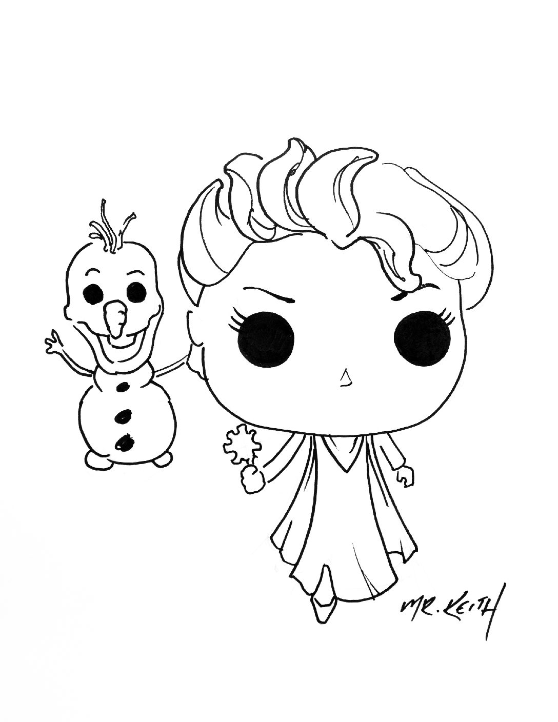 1088x1408 How To Draw Elsa And Olaf Funko Pop R K Mcguire