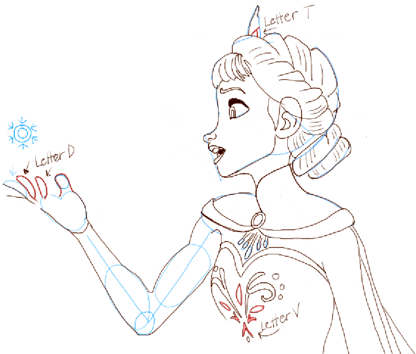 847x721 How To Draw Elsa From Frozen