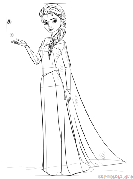 428x575 How To Draw Elsa From Frozen Step By Step Drawing Tutorials