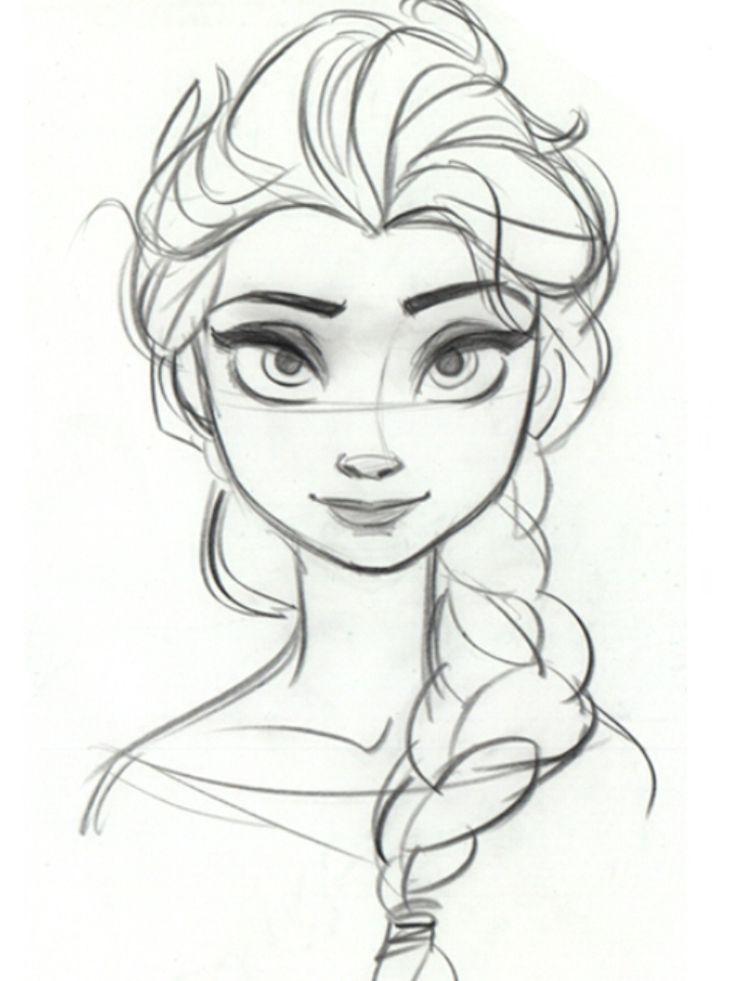 736x981 Elsa To Color
