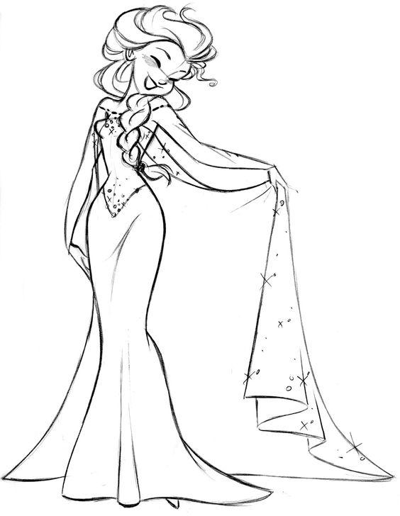 564x728 Elsa Em Preto E Branco. Disney Is Love Elsa, Draw