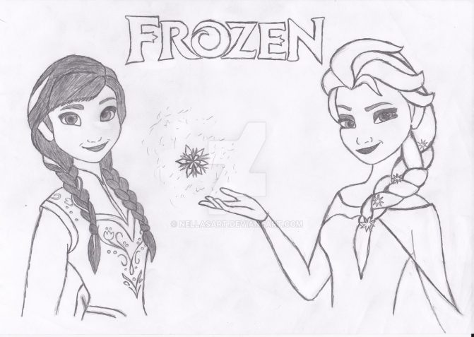 671x477 Anna And Elsa Drawings Step By Step Tags Elsa And Anna Drawing