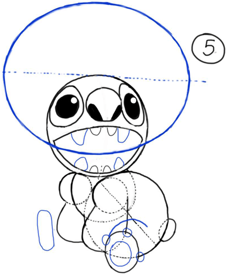 450x541 How To Draw Stitch From Lilo And Stitch With Easy Steps Drawing