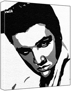 234x300 Elvis Presley Poprt Painting (100% Original Painting. Not
