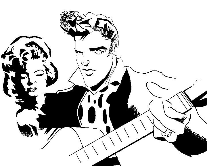 720x577 Elvis Presley N Marylin By Dwcjester