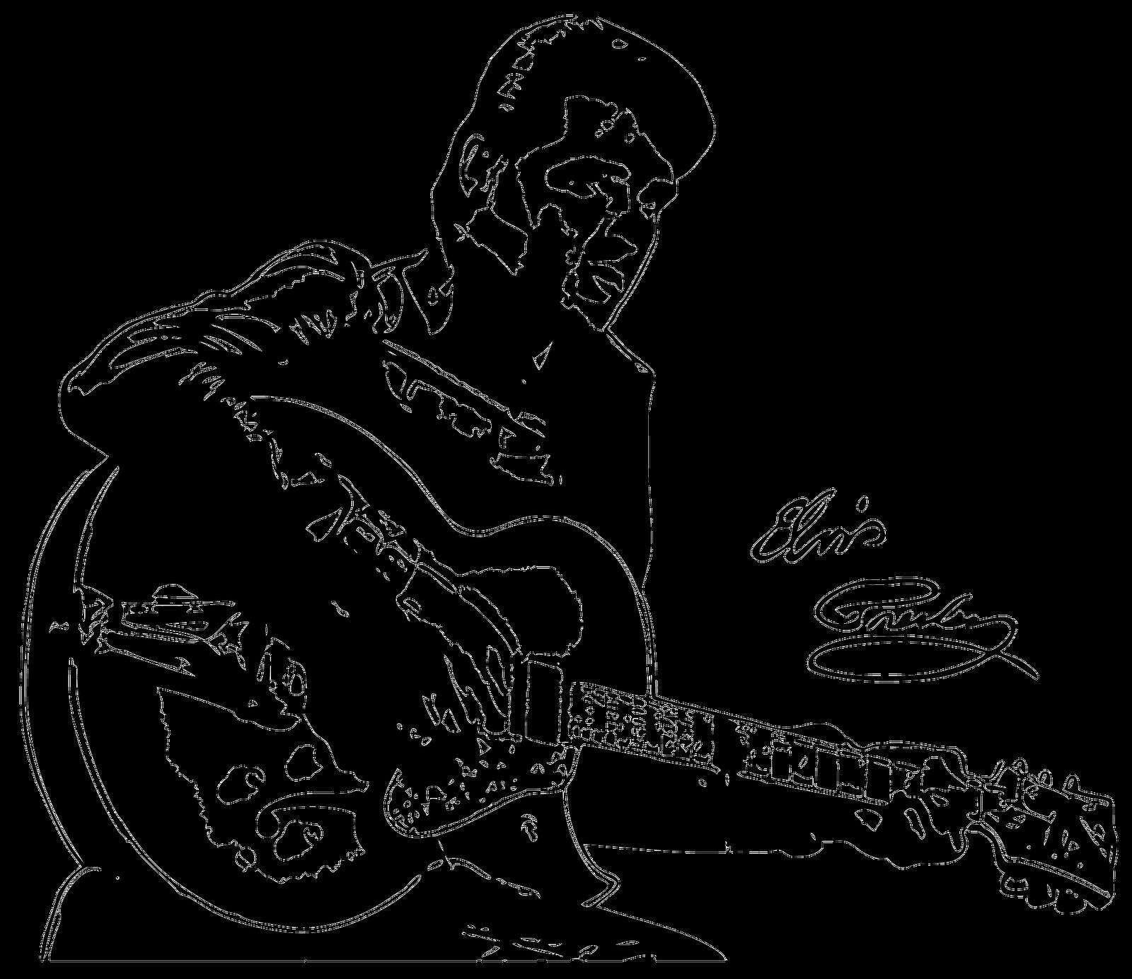1600x1384 In Dreams Elvis Presley Art