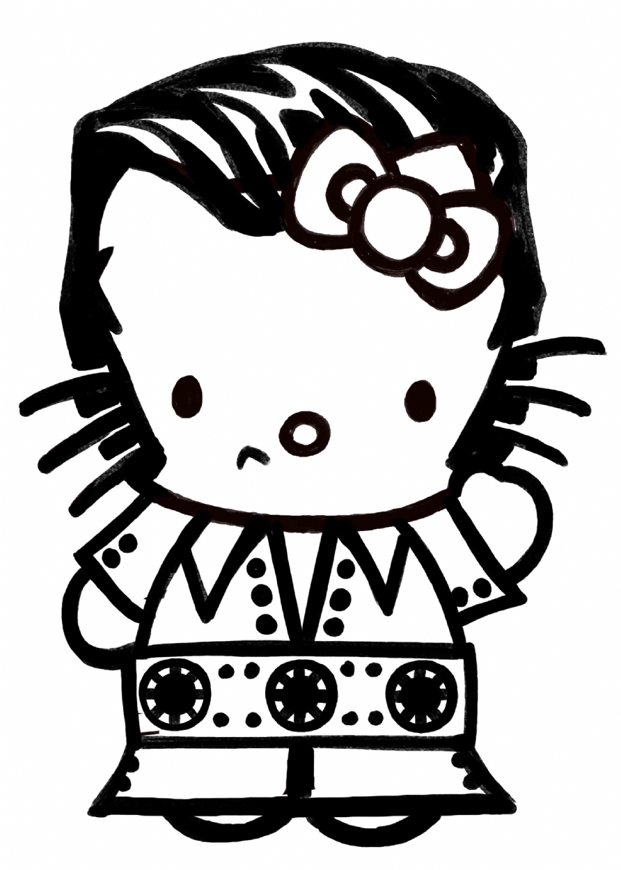892x1250 Elvis Presley, In Mike Mckone's Hello Kitty Comic Art Gallery Room