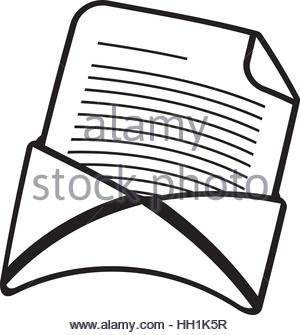 300x335 Message Envelope Email Communication Thin Line Vector Illustration