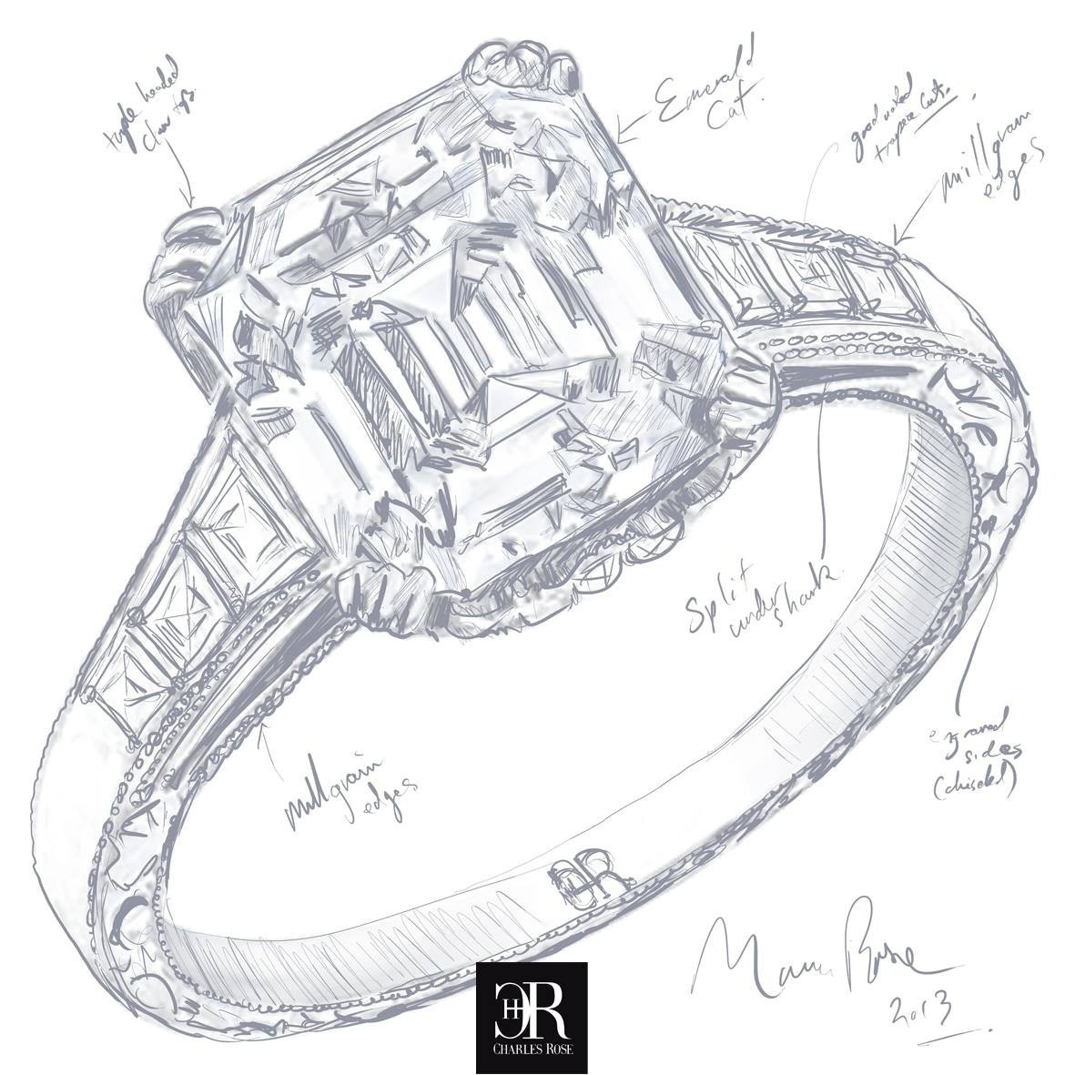 1181x1181 Emerald Cut Diamond Concept. This Design, Completed Today, Is