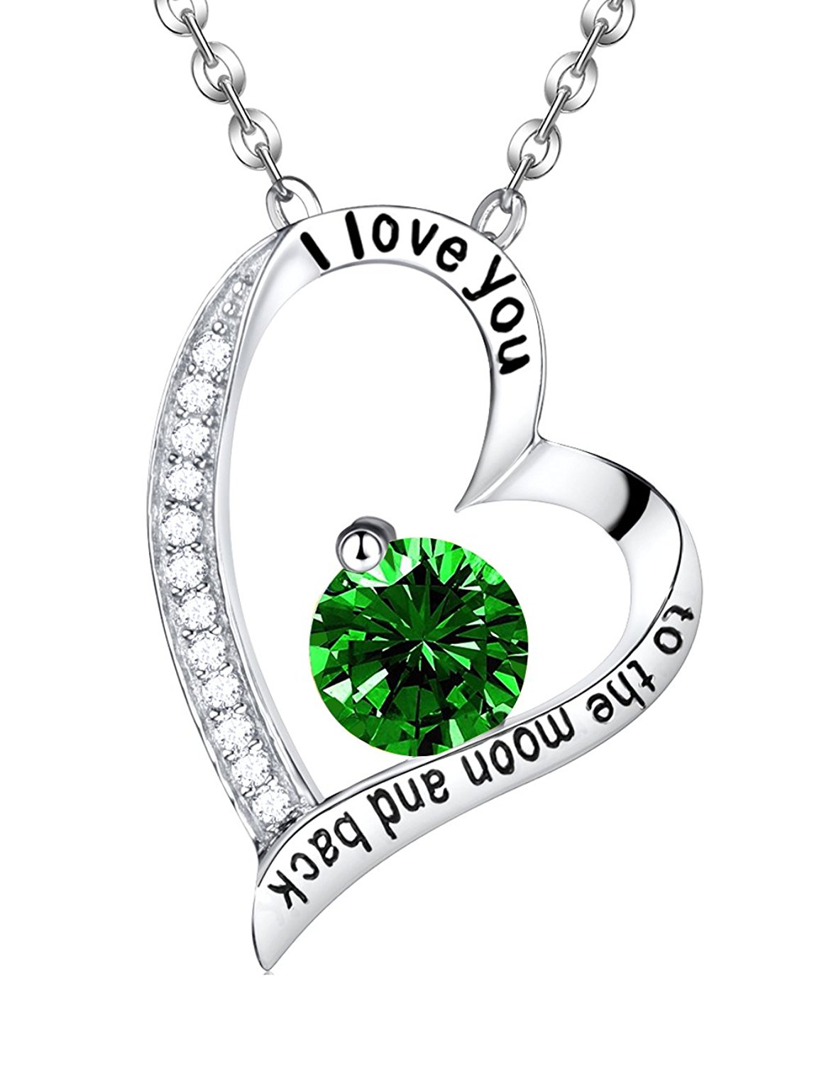 1154x1500 Emerald Necklace May Birthstone Jewelry Mothers Day