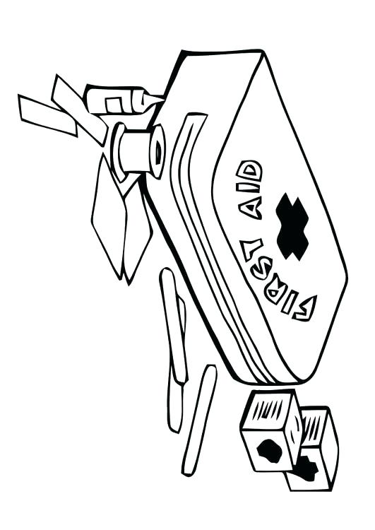 531x750 First Aid Coloring Pages 26 In Addition To Band Aid Coloring Page
