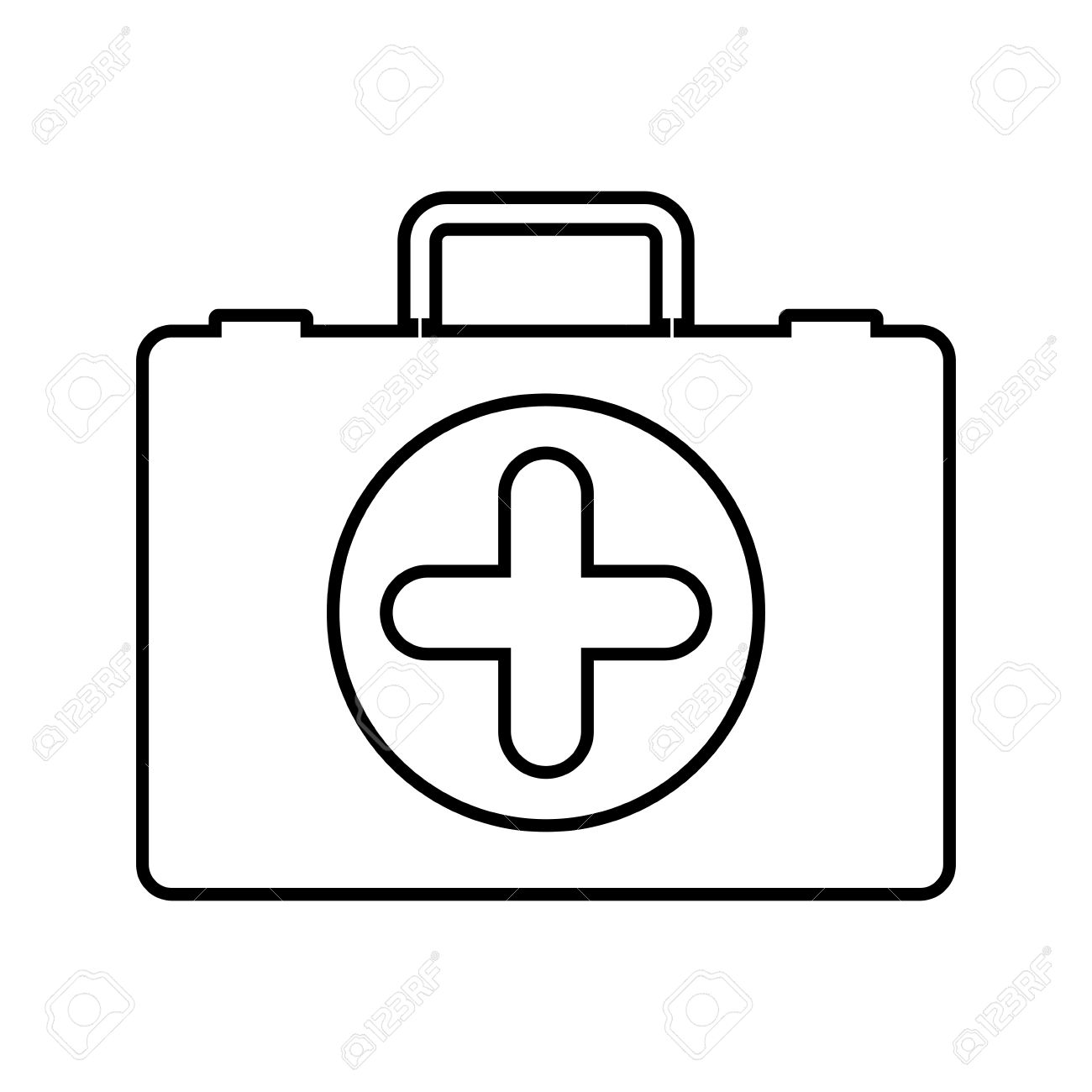 1300x1300 Medical Kit Icon. Medical Health Care Hospital And Emergency