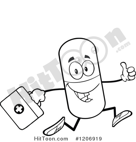 450x470 Pill Mascot Clipart
