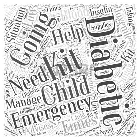 450x450 A Juvenile Diabetics Emergency Kit Word Cloud Concept Royalty Free